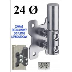 Zawias regulowany furtki D24 -st.