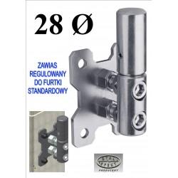 Zawias do furtki regulowany D28 - standard
