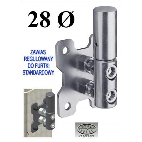 Zawias regulowany furtki D28 - standard, ocynkowany