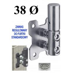 Zawias regulowany furtki D38 - standardowy, ocynk.