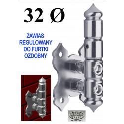 Zawias regulowany furtki D32 - ozdobny.