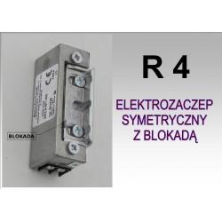 Elektrozaczep / Elektrozamek do furtki symetryczny R4 z blokadą