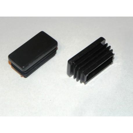 Zaślepka kształtownik 30x20 czarna. (2 szt.)