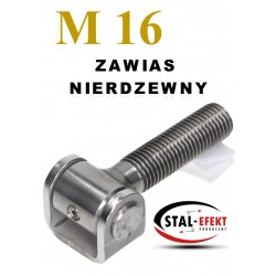 Zawias M16 ucho gięte / bez nakrętki - nierdzewny.