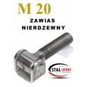 Zawias M20 nierdzewny - ucho gięte