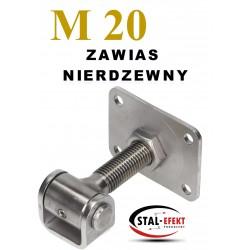 Zawias M20 nierdzewny - ucho gięte.