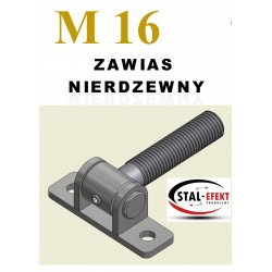 Zawias M16-w ucho spawane - nierdzewny