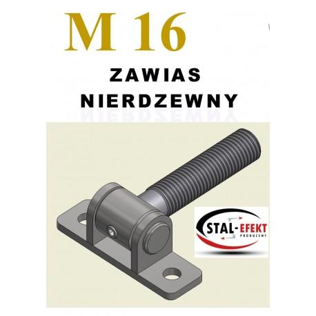 Zawias M16 nierdzewny - ucho spawane.
