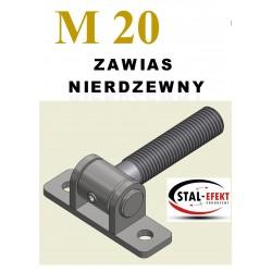 Zawias M20-w ucho spawane - nierdzewny
