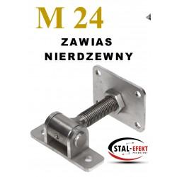Zawias M20 ucho spawane / podstawa - nierdzewny.