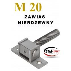 Zawias M20 kwadr. ucho gięte - nierdzewny.