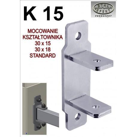 Mocowanie kształtownik 15x30 - standard.