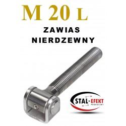 Zawias M20x135 nierdzewny - ucho gięte.