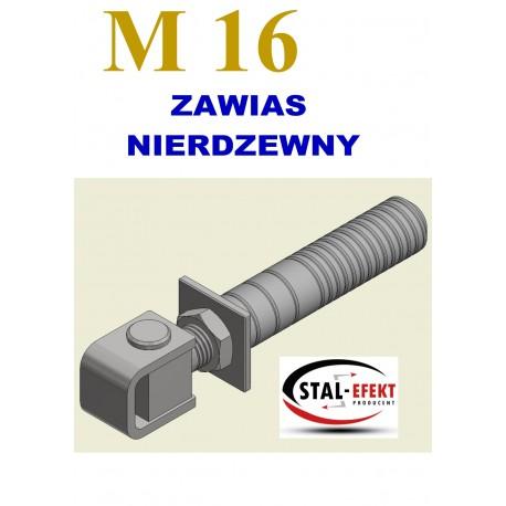 Zawias M16 ucho spawane / tuleja - nierdzewny.