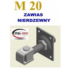 Zawias M20 kwadr. ucho spawane - nierdzewny.