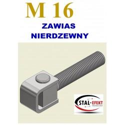 Zawias M16-k ucho gięte - nierdzewny