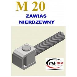 Zawias M20-k ucho giętę / nierdzewny.