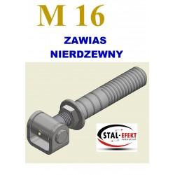 Zawias M16-w ucho gięte / z tuleją - nierdzewny