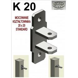 Mocowanie kształtownik 20x20 - standard.