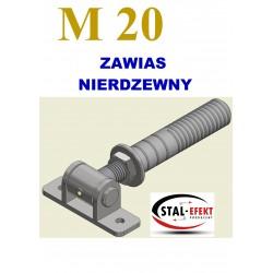 Zawias M20-w ucho spawane / tuleja - nierdzewny